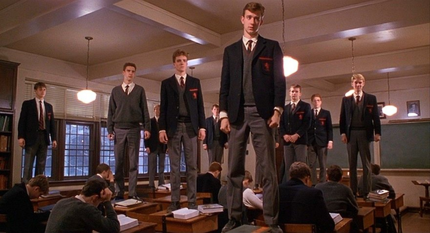 an in depth analysis of the film dead poets society When talking about a book vs a movie there are many differences usually people would say a book is better, and in most cases this is true, but in the case of dead poets society, there is much controversy.