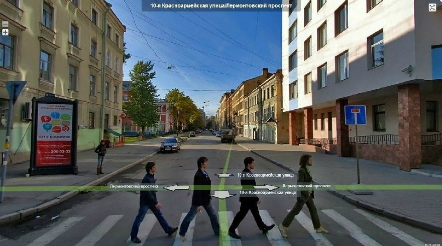Обложка Abbey Road на улицах Петербурга