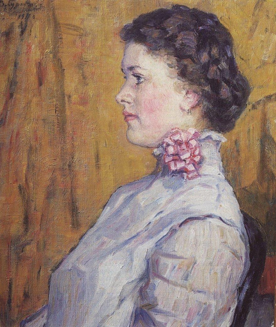«Портрет неизвестной на жёлтом фоне»
