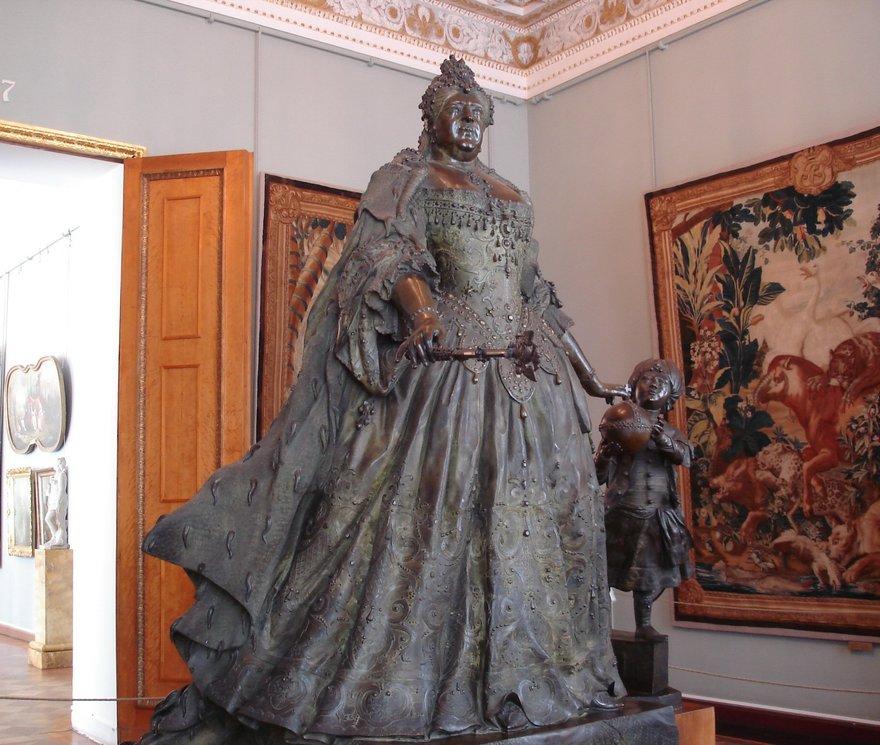 Франческо Растрелли. «Анна Иоанновна с арапчонком», 1741 год
