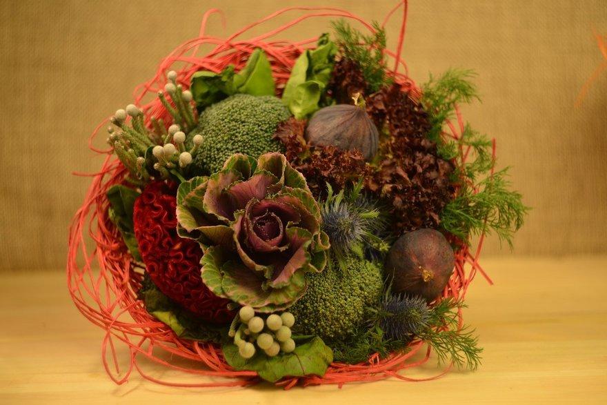 Осенние букеты своими руками из овощей 57