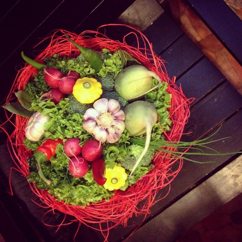 Как сделать букет из целых овощей