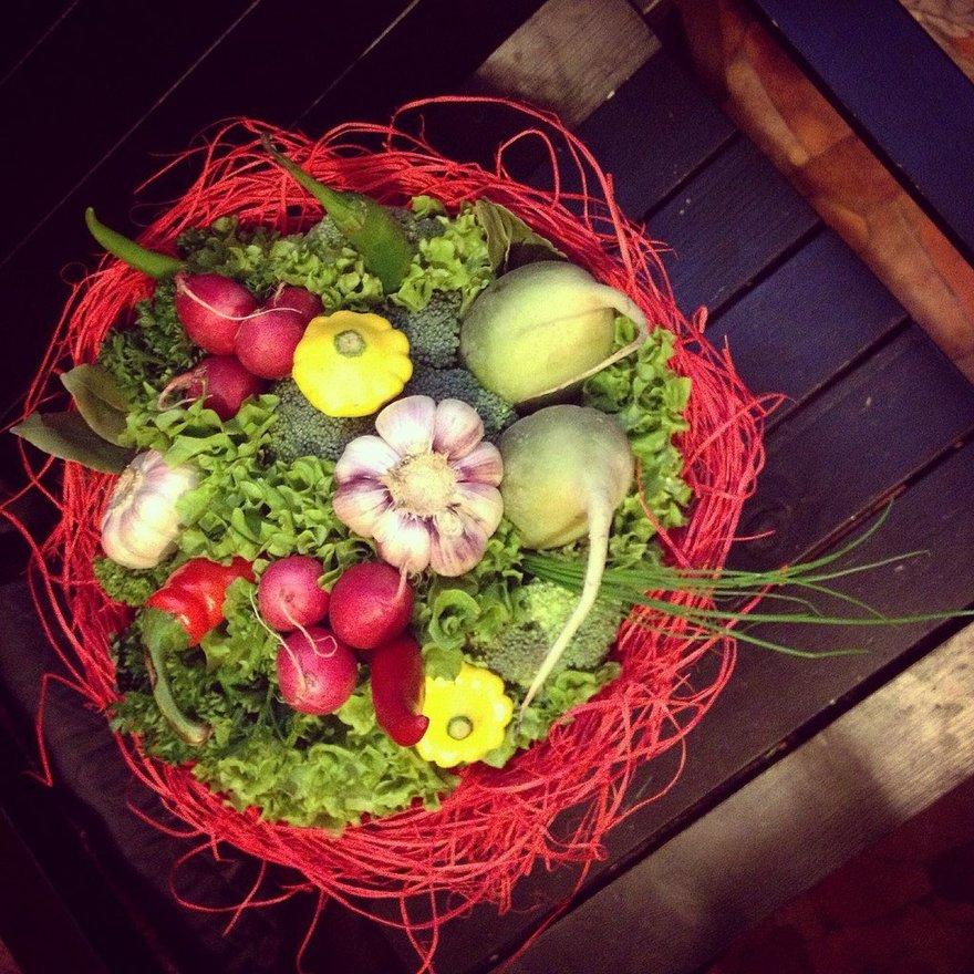 Как сделать букет из овощей своими руками 87