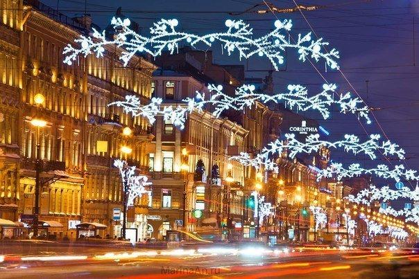 Невский проспект i в новый год