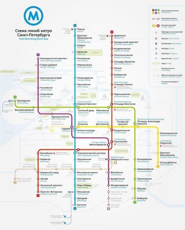 схема метро петербурга 2030