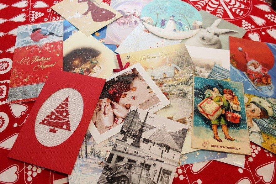 Открытку, много поздравительных открыток