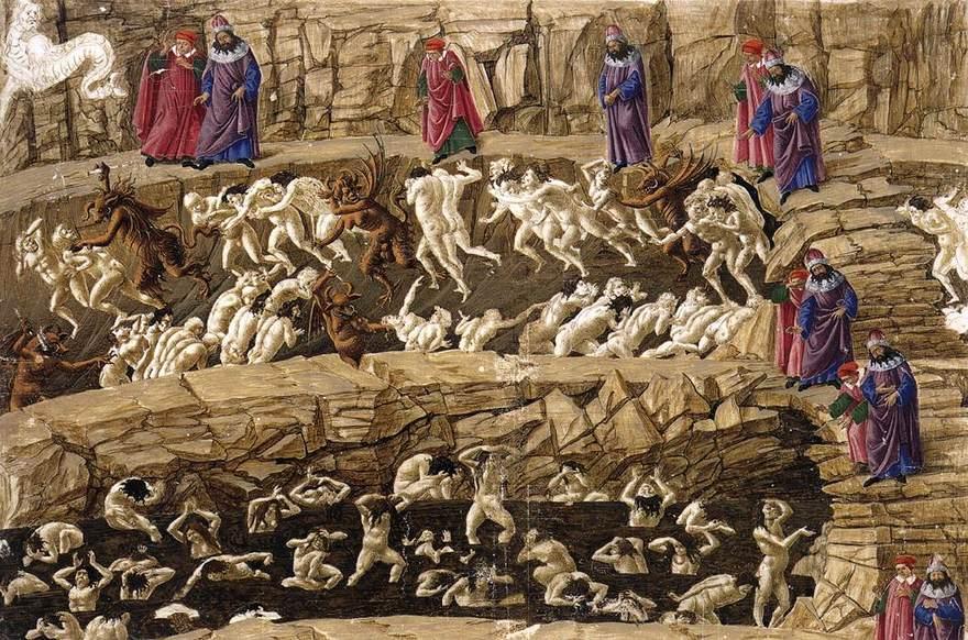 the representation of the underworld in two epic poems the inferno in dante alighieris divine comedy